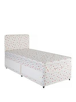 Save £50 at Very on Airsprung Kids Storage Divan And Headboard Set - Star Print