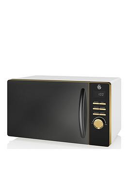 Save £10 at Very on Swan Swan Gatsby Range 23-Litre Digital Microwave - White/Gold