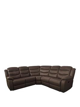Save £150 at Very on Rothbury Luxury Faux Leather Manual Recliner Corner Group Sofa