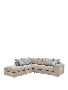 Save £200 at Very on Cavendish Sophia Left Hand Corner Chaise Sofa With Footstool