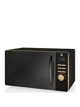 Save £10 at Very on Swan Swan Gatsby Range 23-Litre Digital Microwave - Black/Gold