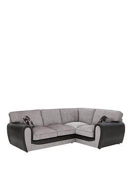 Save £295 at Very on Fleur Fabric And Snakeskin Right Hand Corner Group Standard Back Sofa
