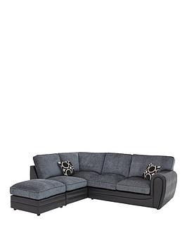 Save £160 at Very on Bardot Left-Hand Standard Back Corner Chaise Sofa + Footstool