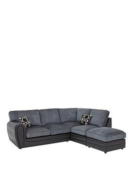 Save £160 at Very on Bardot Right-Hand Standard Back Corner Chaise Sofa + Footstool