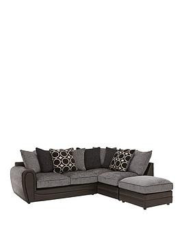 Save £160 at Very on Bardot Right-Hand Scatterback Corner Chaise Sofa