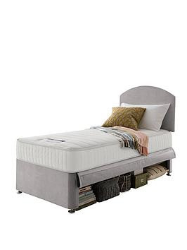 Save £50 at Very on Silentnight Kids Maxi Store Velvet Divan Bed Set, Sprung Mattress And Headboard Included