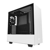 Save £5 at Scan on NZXT H500, White/Black, Mid Tower Computer Chassis, Tempered Glass Window, ATX/MicroATX/Mini-ITX, 2x 120mm Aer Fans