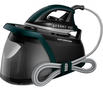 Save £60 at Currys on RUSSELL HOBBS Quiet Super 24450 Steam Generator Iron - Green & Black, Green