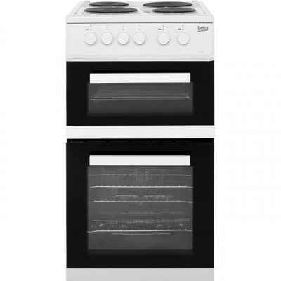 Save £73 at AO on Beko KD533AW 50cm Electric Cooker with Solid Plate Hob - White - A Rated