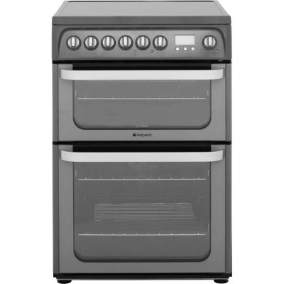 Save £105 at AO on Hotpoint Ultima HUE61GS Electric Cooker with Ceramic Hob - Graphite - A/A Rated
