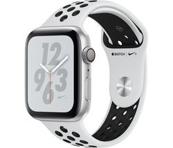 Save £30 at Currys on APPLE Watch Series 4 Nike+ - Platinum & Black Sports Band, 44 mm