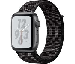 Save £30 at Currys on APPLE Watch Series 4 Nike+ - Space Grey & Black Sports Band, 44 mm
