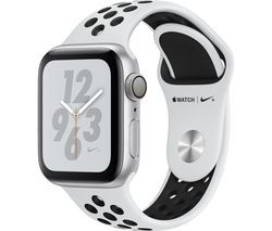 Save £30 at Currys on APPLE Watch Nike+ Series 4 - Silver & Platinum Sports Band, 40 mm