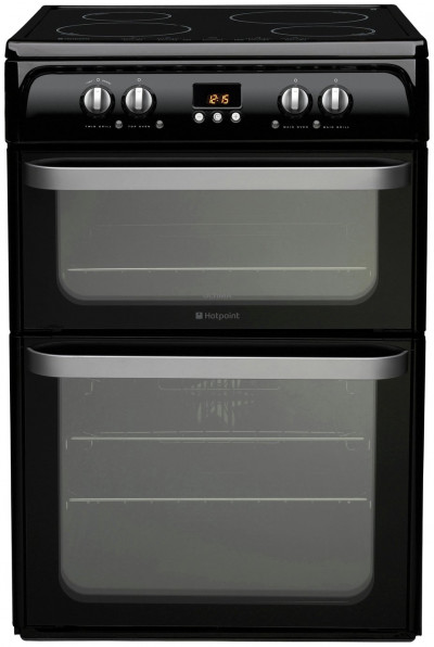 Save £95 at Argos on Hotpoint Ultima HUI614 K 60cm Double Electric Cooker - Black