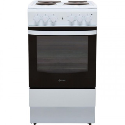 Save £30 at AO on Indesit Cloe IS5E4KHW 50cm Electric Cooker with Solid Plate Hob - White - A Rated