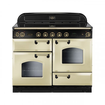 Save £320 at AO on Rangemaster Classic Deluxe CDL110EICR/B 110cm Electric Range Cooker with Induction Hob - Cream / Brass - A/A Rated