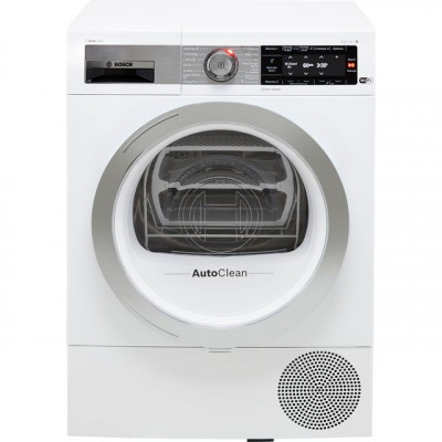 Save £100 at AO on Bosch Serie 8 WTX88EH9GB Wifi Connected 9Kg Heat Pump Tumble Dryer - White - A+++ Rated