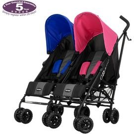 Save £23 at Argos on Obaby Apollo Black and Grey Double Pushchair - Pink & Blue