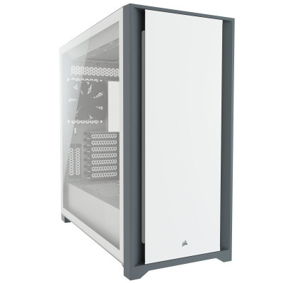 Save £23 at Ebuyer on CORSAIR 5000D Mid-Tower ATX PC Case - Fits Multiple 360mm Radiators - Easy Cable Management - Two Included CORSAIR AirGuide Fans - White