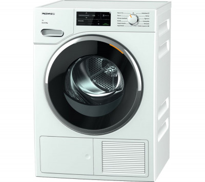 Save £230 at Currys on MIELE TWJ660 WP WiFi-enabled 9 kg Heat Pump Tumble Dryer - White, White