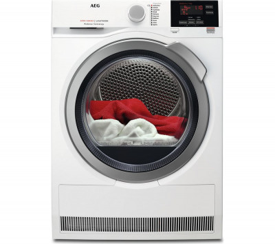 Save £90 at Currys on AEG ProSense T6DBG822N Condenser Tumble Dryer - White, White