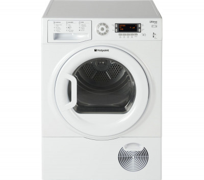 Save £45 at Currys on HOTPOINT Ultima S-Line SUTCD97B6PM Condenser Tumble Dryer - White, White