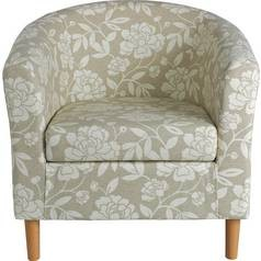 Save £44 at Argos on Argos Home Floral Fabric Tub Chair - Natural