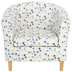 Save £29 at Argos on Argos Home Molly Fabric Floral Tub Chair - Blue
