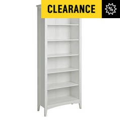Save £33 at Argos on Argos Home Camborne 5 Shelf Solid Wood Bookcase - White