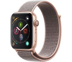 Save £30 at Currys on APPLE Watch Series 4 - Gold & Pink Sand Sports Loop, 44 mm