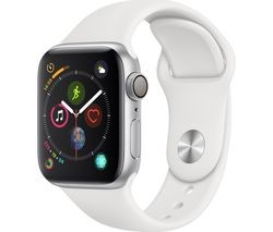 Save £30 at Currys on APPLE Watch Series 4 - Silver & White Sports Band, 40 mm