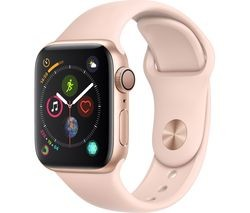Save £30 at Currys on APPLE Watch Series 4 - Gold & Pink Sports Band, 40 mm