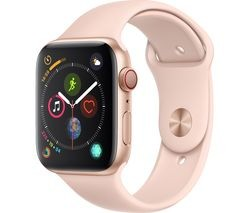 Save £30 at Currys on APPLE Watch Series 4 Cellular - Gold & Pink Sports Band, 44 mm