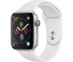 Save £30 at Currys on APPLE Watch Series 4 - Silver & White Sports Band, 44 mm