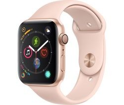 Save £30 at Currys on APPLE Watch Series 4 - Gold & Pink Sports Band, 44 mm