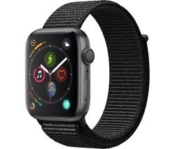 Save £30 at Currys on APPLE Watch Series 4 - Space Grey & Black Sports Loop, 44 mm