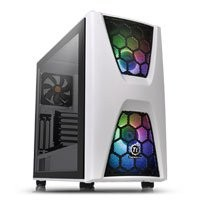 Save £15 at Scan on Thermaltake Commander C34 Snow Midi Chassis, Tempered Glass, 2x 200mm ARGB Fans/1x 120mm, USB 3.0, ATX/MicroATX/Mini-ITX