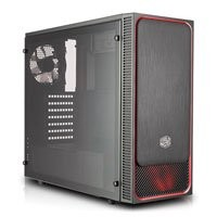 Save £5 at Scan on Cooler Master MasterBox E500L Red Trim, Mid Tower PC Case, w/ Window, ATX/MicroATX/Mini-ITX, 120mm Red LED Fan, USB 3.0