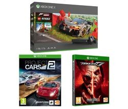 Save £150 at Currys on MICROSOFT Xbox One X, Forza Horizon 4, LEGO Speed Champions, Tekken 7 & Project Cars 2 Bundle