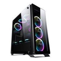 Save £10 at Scan on Sahara P35 RGB Chassis, Tempered Glass, USB 3.0, 4x120mm Fan Included, Radiator Support, ATX/MicroATX/Mini ITX