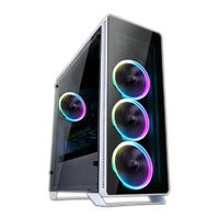 Save £10 at Scan on White Sahara P35W RGB Chassis, Tempered Glass, USB 3.0, 4x120mm Fan Included, Radiator Support, ATX/MicroATX/Mini ITX