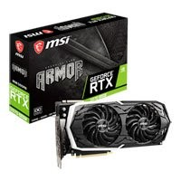 Save £47 at Scan on MSI GeForce RTX 2070 SUPER ARMOR OC 8GB GDDR6 Ray-Tracing Graphics Card, 2560 Core, 1605MHz GPU, 1785MHz Boost