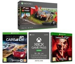 Save £35 at Currys on MICROSOFT Xbox One X, Forza Horizon 4, LEGO Speed Champions, Tekken 7, Project Cars 2 & Xbox One Game Pass Ultimate Bundle