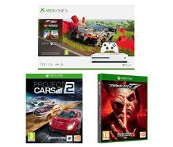 Save £35 at Currys on MICROSOFT Xbox One S, Forza Horizon 4, LEGO Speed Champions, Tekken 7 & Projects Cars 2 Bundle