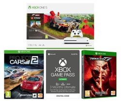 Save £70 at Currys on MICROSOFT Xbox One S, Forza Horizon 4, LEGO Speed Champions, Tekken 7, Project Cars 2 & Xbox One Game Pass Ultimate Bundle