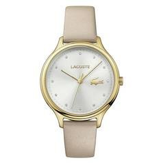Save £45 at Argos on Lacoste Ladies' Constance 2001007 Beige Leather Strap Watch