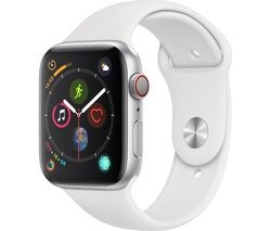 Save £130 at Currys on APPLE Watch Series 4 Cellular - Silver & White Sports Band, 44 mm
