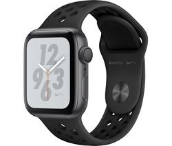 Save £120 at Currys on APPLE Watch Nike+ Series 4 - Space Grey & Black Sports Band, 40 mm