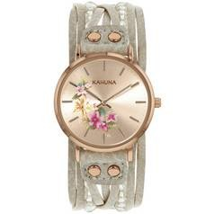 Save £5 at Argos on Kahuna Ladies' Rose Gold Coloured Grey Beaded Strap Watch