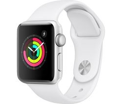 Save £14 at Currys on APPLE Watch Series 3 - Silver & White Sports Band, 38 mm